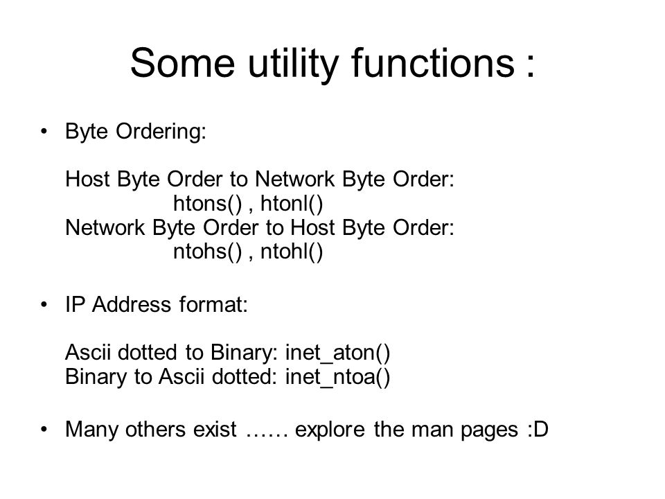 Some utility functions :