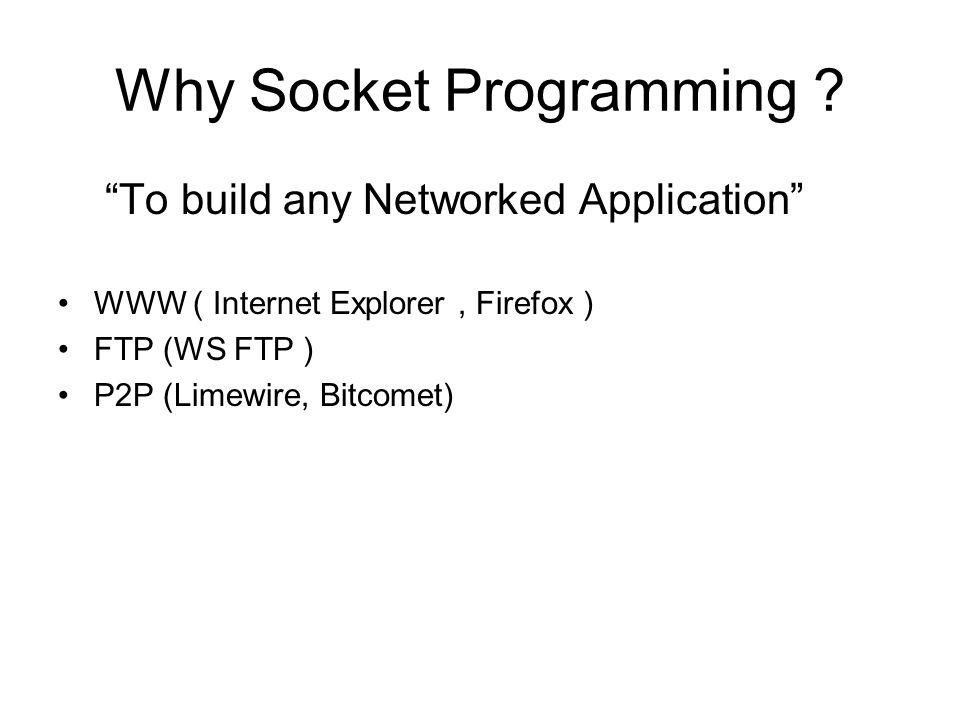 Why Socket Programming