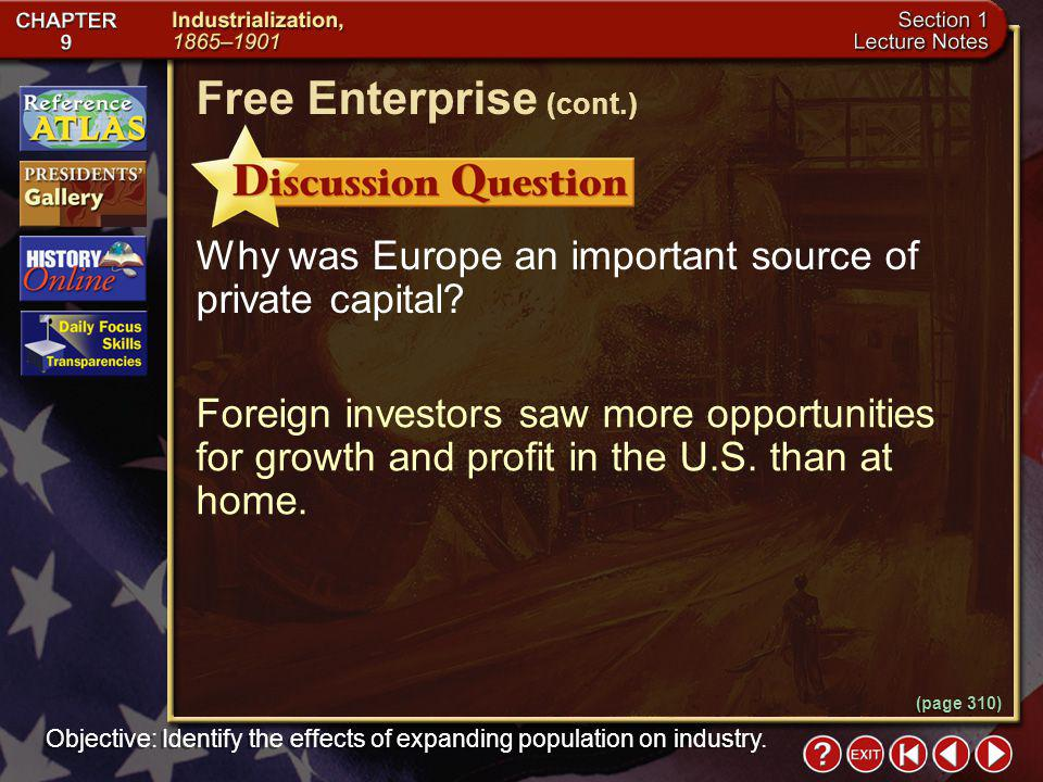 Free Enterprise (cont.)