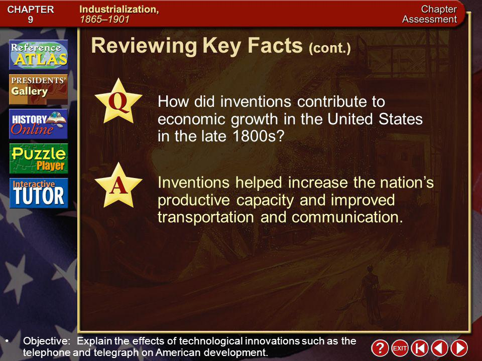 Reviewing Key Facts (cont.)