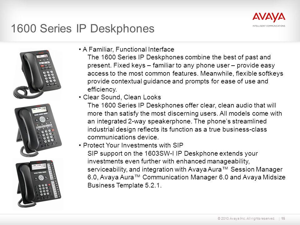 1600 Series IP Deskphones A Familiar, Functional Interface