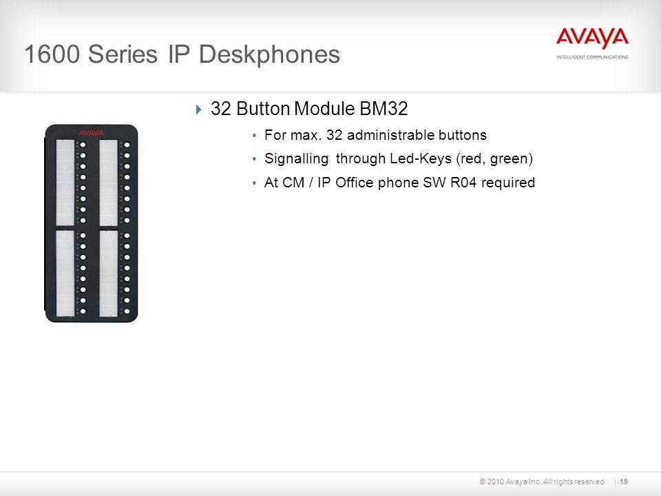 1600 Series IP Deskphones 32 Button Module BM32