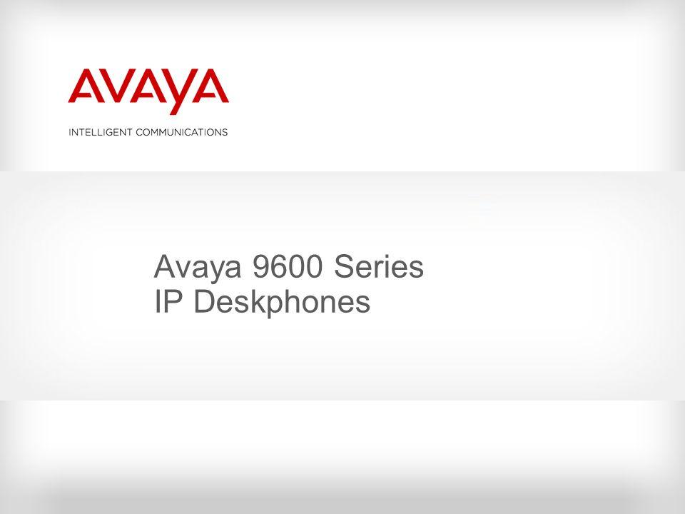 Avaya 9600 Series IP Deskphones