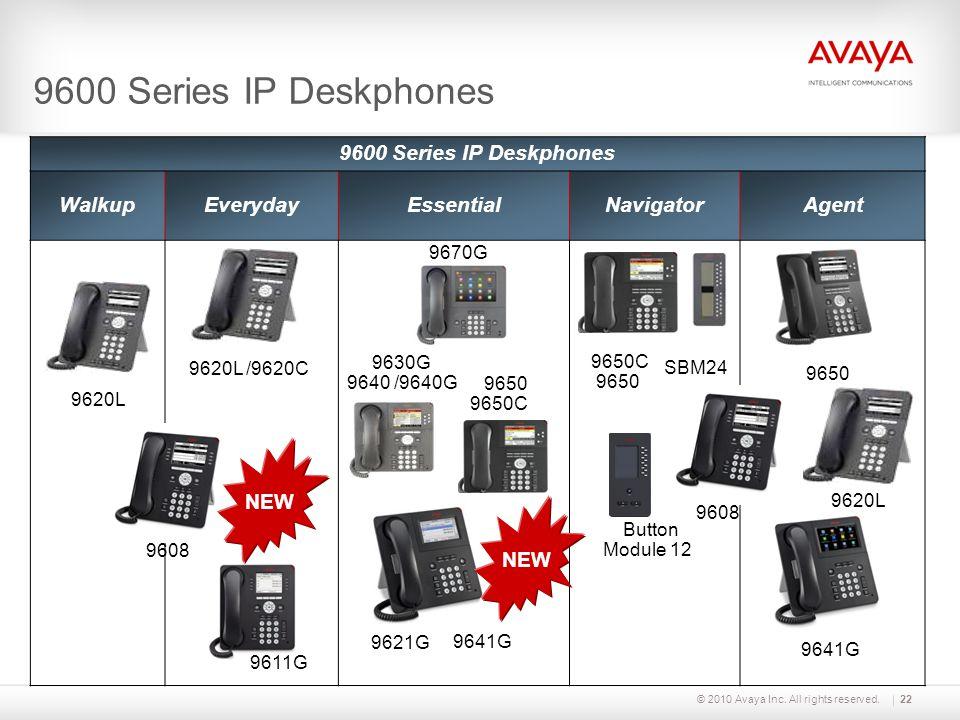 9600 Series IP Deskphones 9600 Series IP Deskphones Walkup Everyday