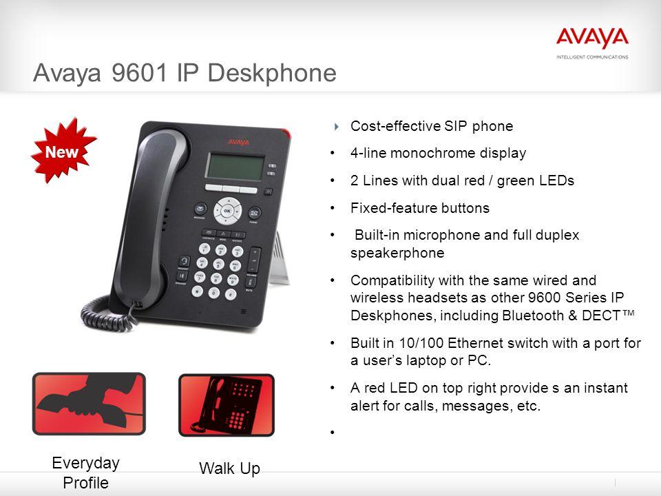 Avaya 9601 IP Deskphone New Everyday Profile Walk Up