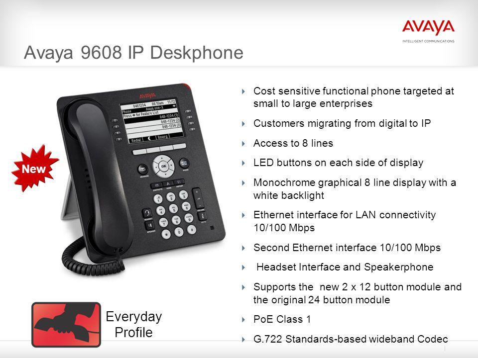 Avaya 9608 IP Deskphone Everyday Profile New
