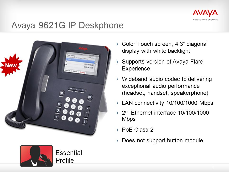 Avaya 9621G IP Deskphone Essential Profile