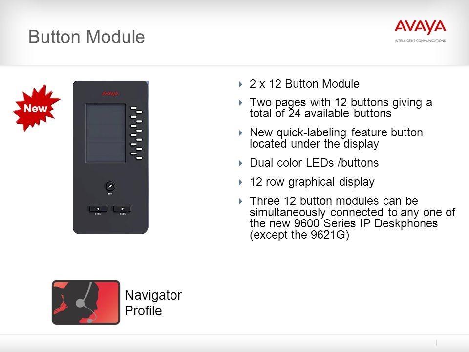 Button Module Navigator Profile 2 x 12 Button Module