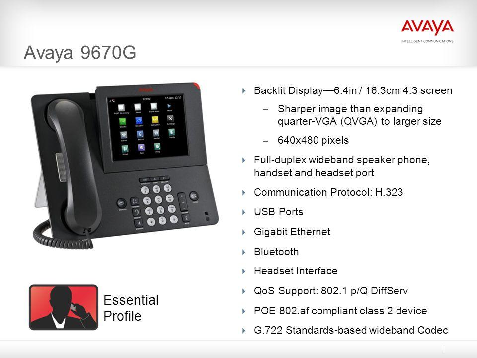 Avaya 9670G Essential Profile
