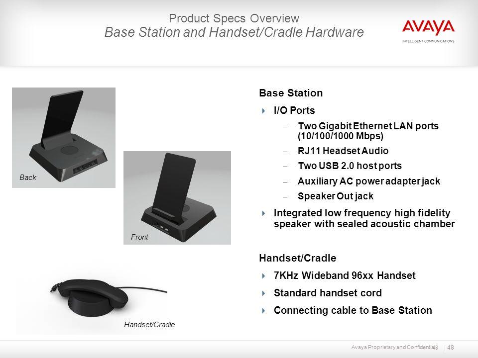 Base Station and Handset/Cradle Hardware