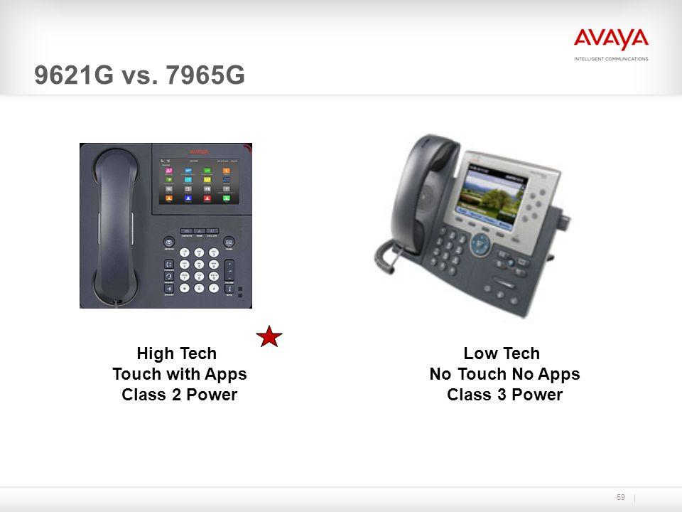 9621G vs. 7965G High Tech Touch with Apps Class 2 Power Low Tech