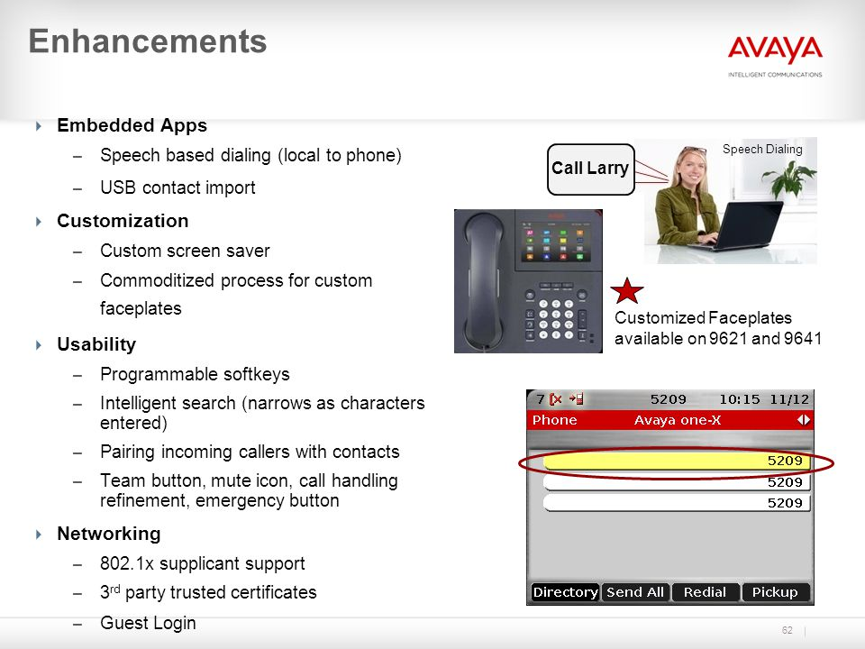 Enhancements Embedded Apps Customization Usability Networking