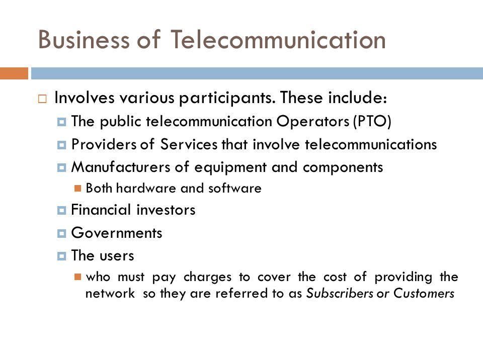 Business of Telecommunication