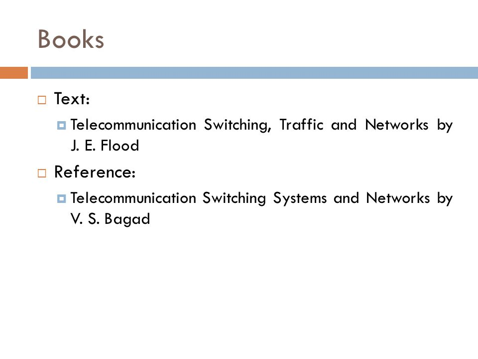 Books Text: Reference: