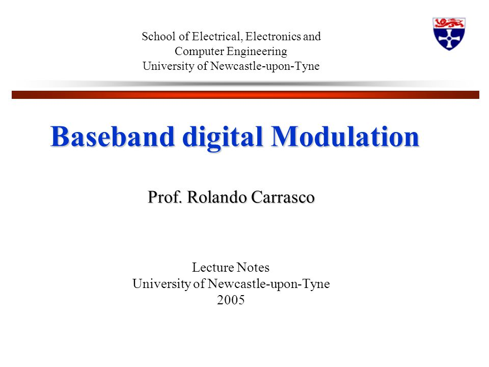 Baseband digital Modulation
