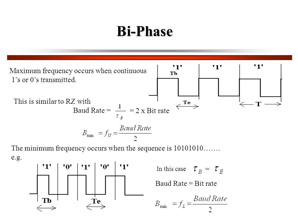 Bi-Phase Maximum frequency occurs when continuous