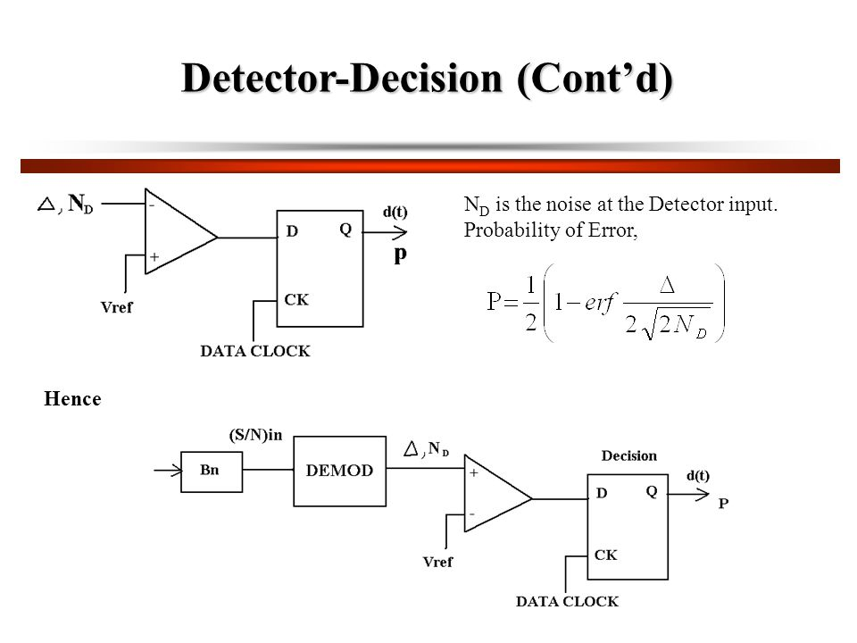 Detector-Decision (Cont'd)