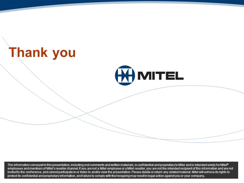 Thank you Mitel Template for 2008 3/31/2017
