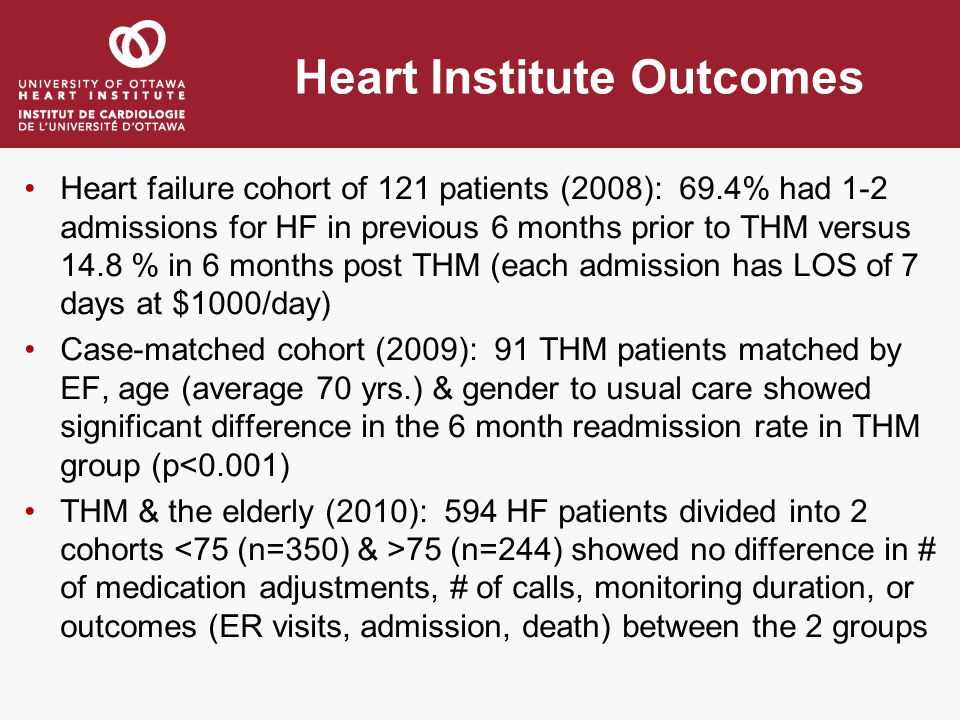 Heart Institute Outcomes