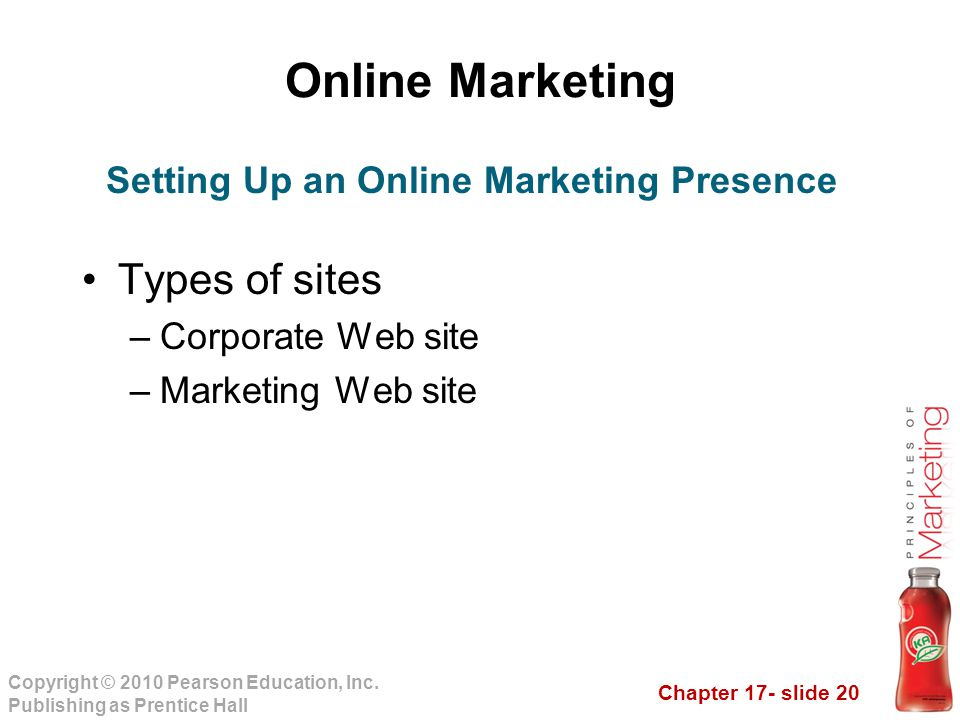 Setting Up an Online Marketing Presence