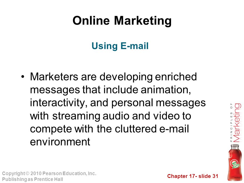 Online Marketing Using E-mail.