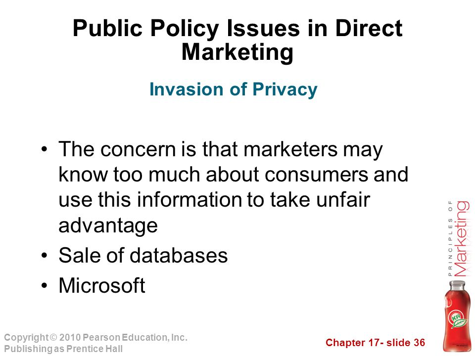 Public Policy Issues in Direct Marketing