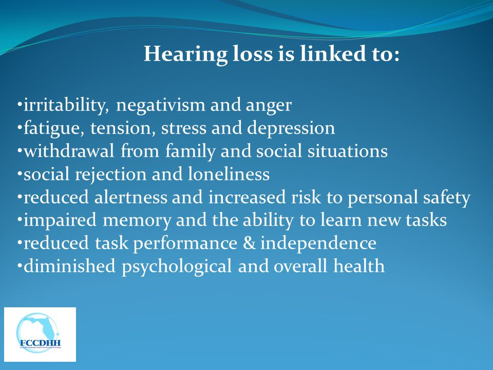 Hearing loss is linked to: