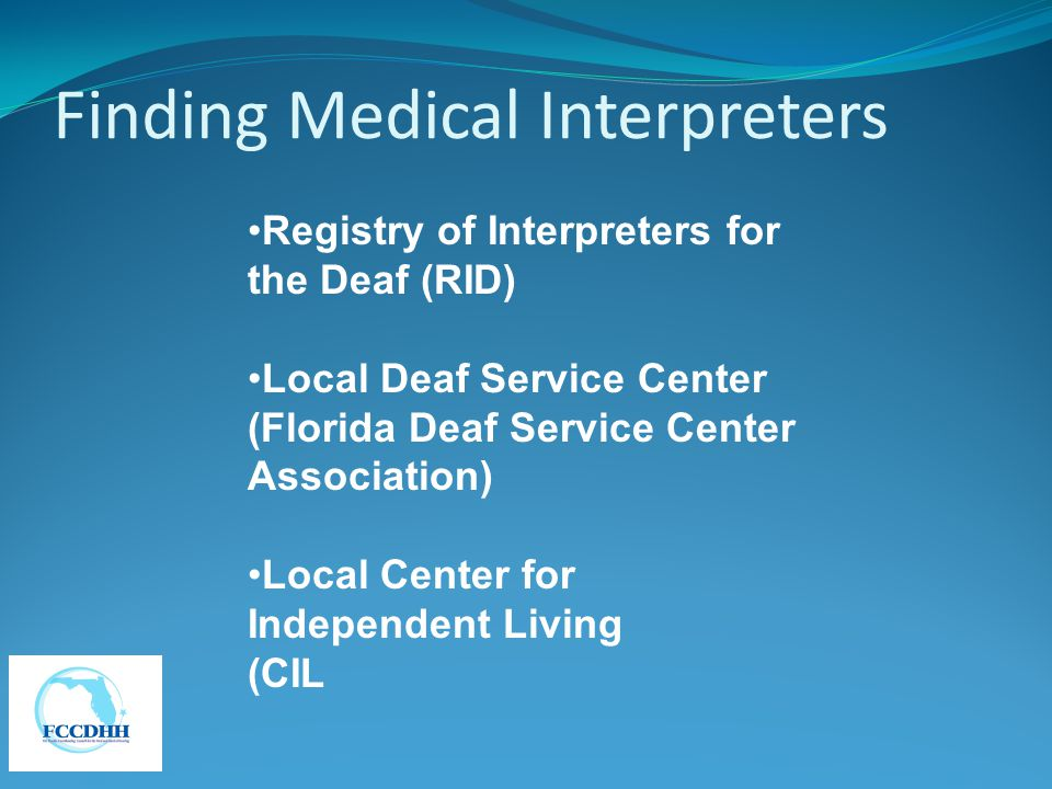 Finding Medical Interpreters