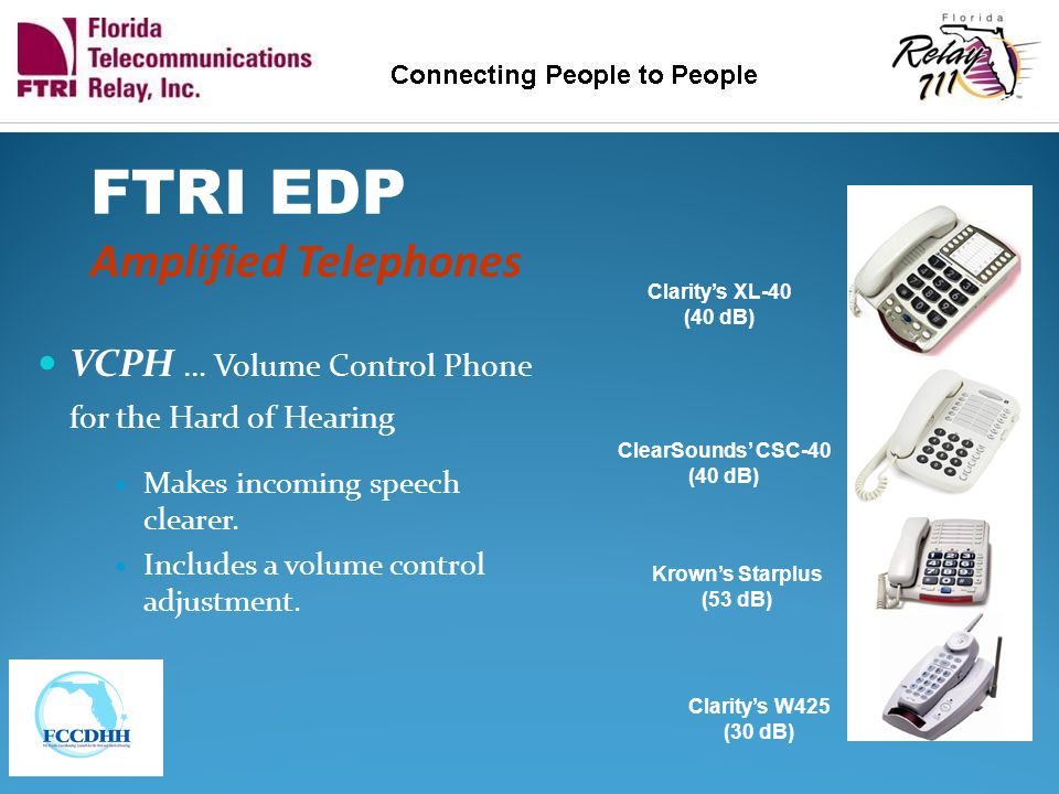 FTRI EDP Amplified Telephones