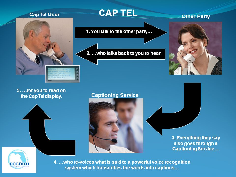 CAP TEL CapTel User Other Party Captioning Service