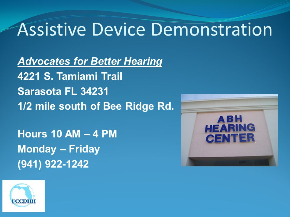Assistive Device Demonstration