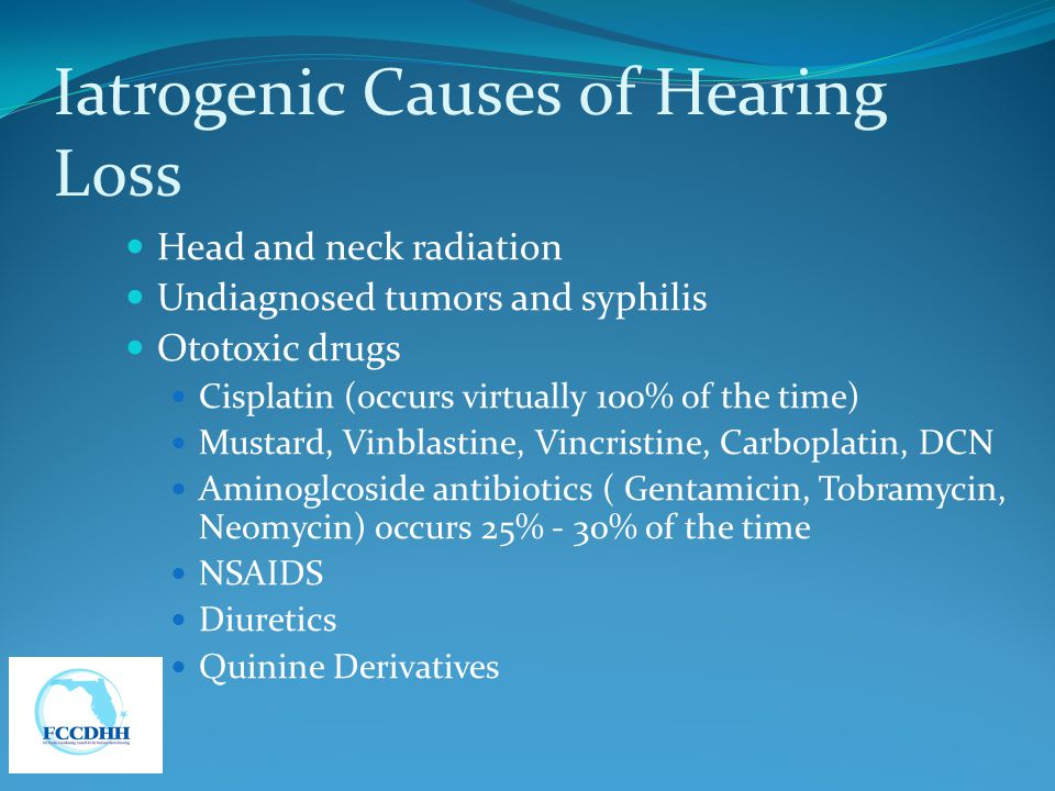Iatrogenic Causes of Hearing Loss