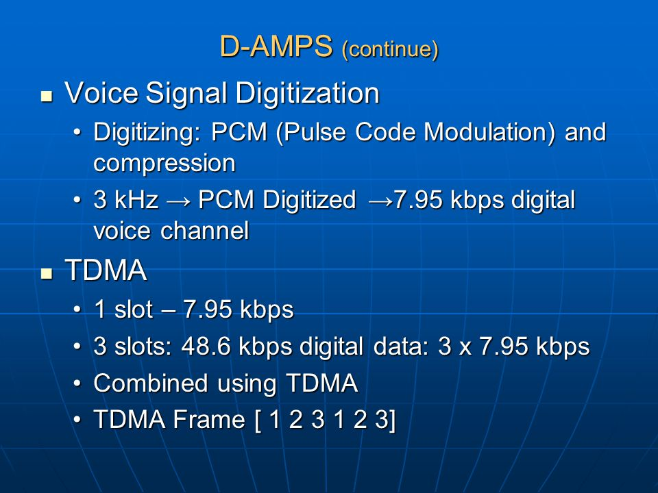 Voice Signal Digitization