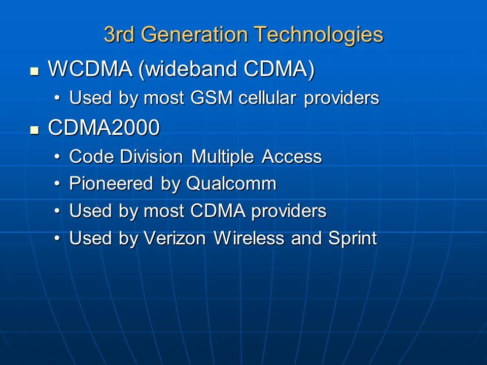 3rd Generation Technologies