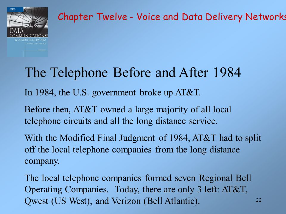 The Telephone Before and After 1984