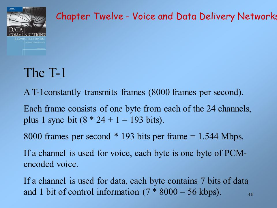 The T-1 Chapter Twelve - Voice and Data Delivery Networks