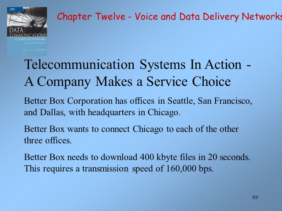 Telecommunication Systems In Action - A Company Makes a Service Choice