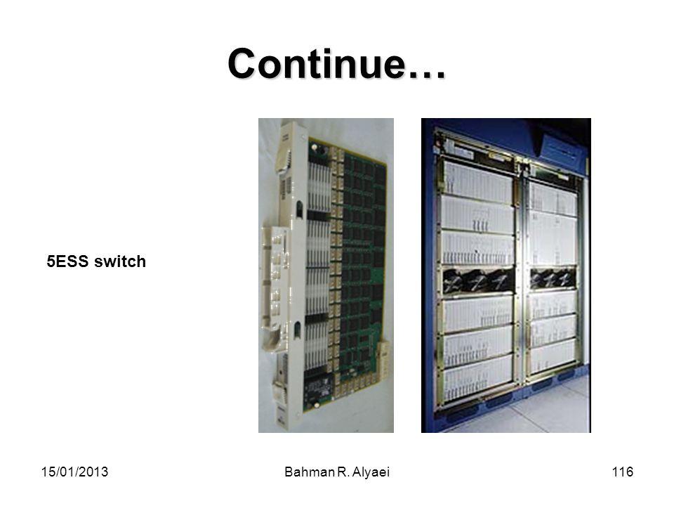 Continue… 5ESS switch 15/01/2013 Bahman R. Alyaei