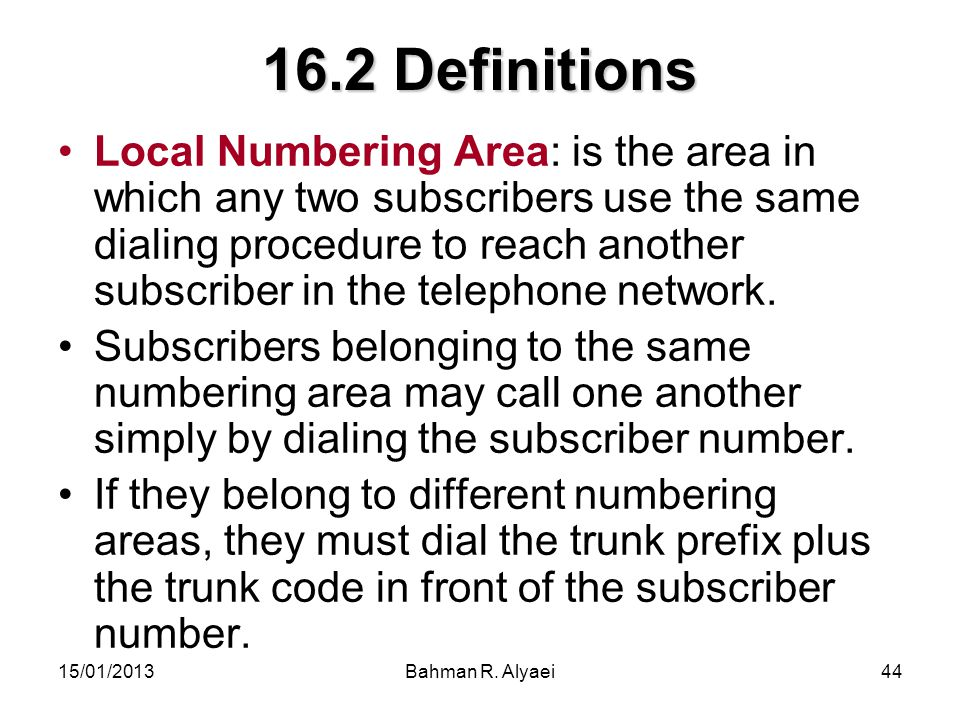 16.2 Definitions