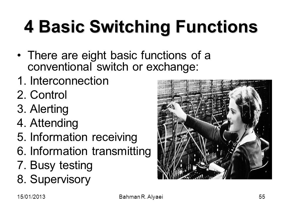 4 Basic Switching Functions