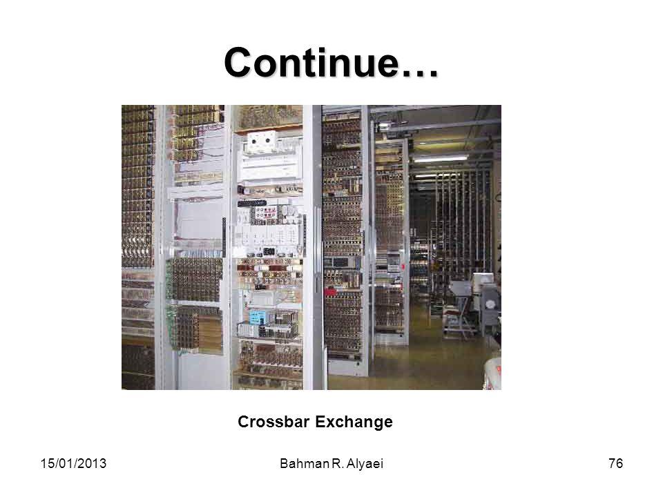 Continue… Crossbar Exchange 15/01/2013 Bahman R. Alyaei