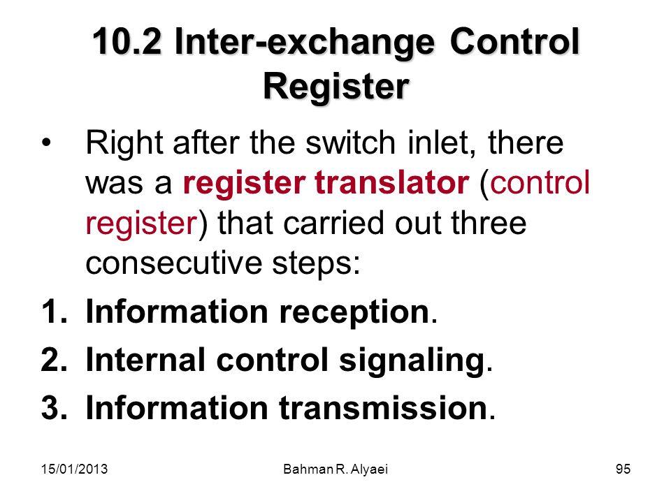 10.2 Inter-exchange Control Register