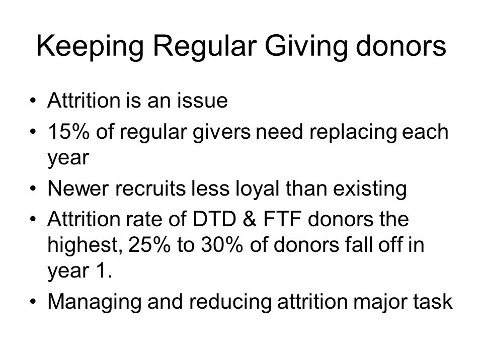 Keeping Regular Giving donors