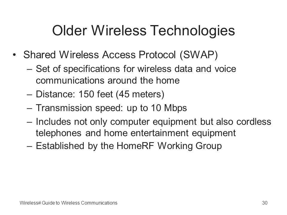 Older Wireless Technologies