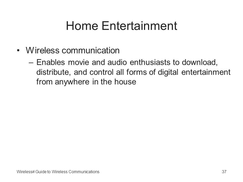 Home Entertainment Wireless communication