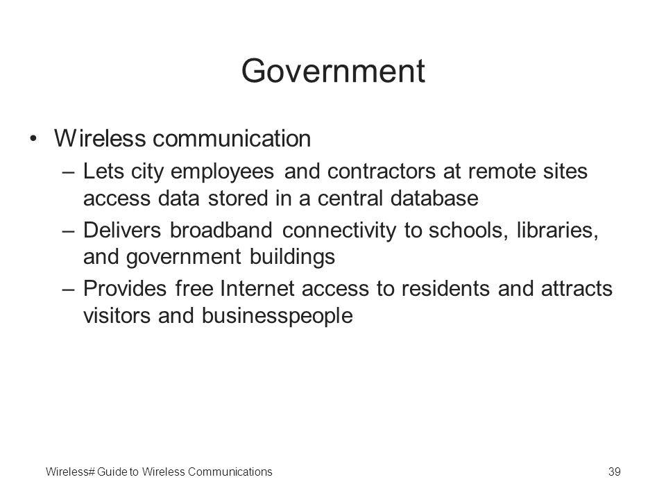 Government Wireless communication