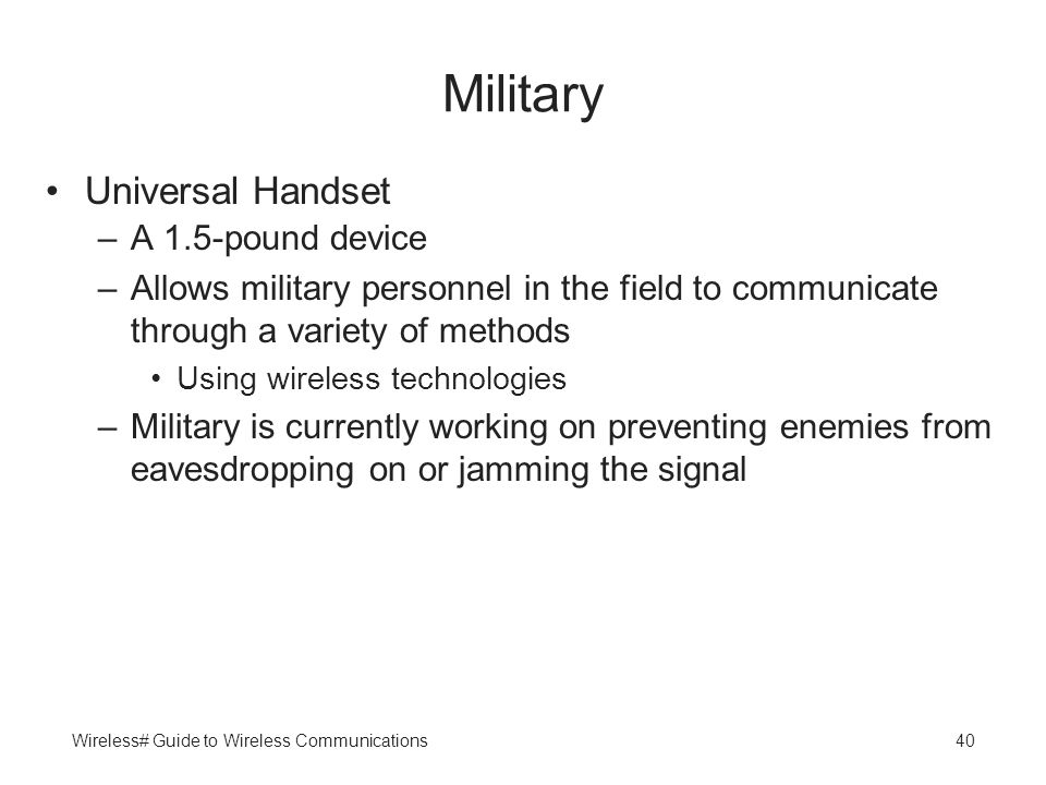 Military Universal Handset A 1.5-pound device