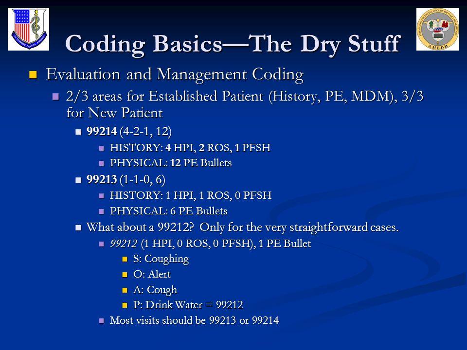 Coding Basics—The Dry Stuff