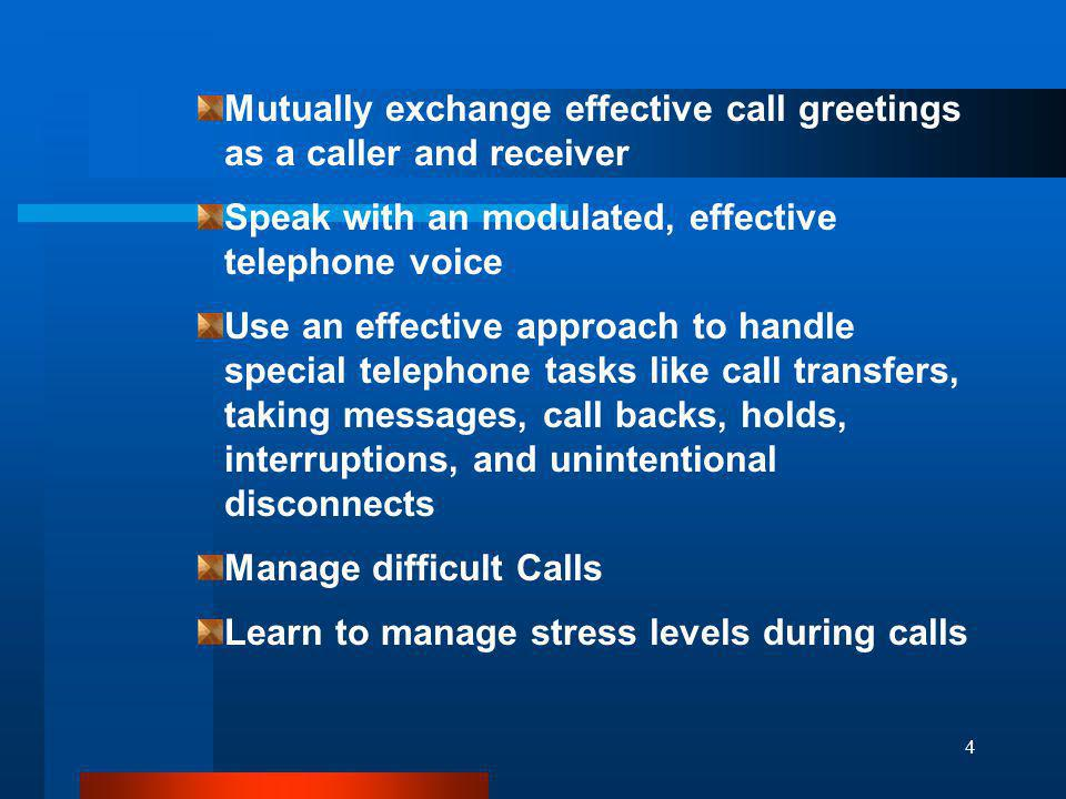 Mutually exchange effective call greetings as a caller and receiver