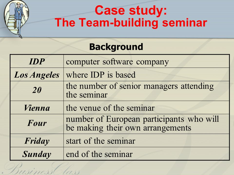 Case study: The Team-building seminar